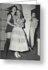 Rehearsal For ``dick Whittington� At The Palladium Greeting Card