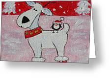 Reindeer Booties Greeting Card