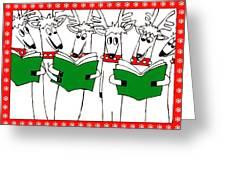 Reindeer Choir Greeting Card