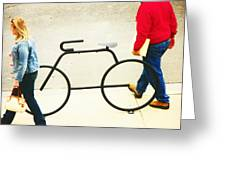Relationship With A Bike Greeting Card