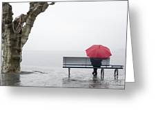 Relax In The Rain Greeting Card