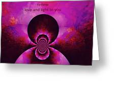 Relax Release Renew Greeting Card