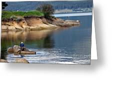 Relaxed Fisherman Greeting Card by Robert Bales