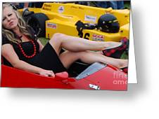 Relaxed Racer Greeting Card