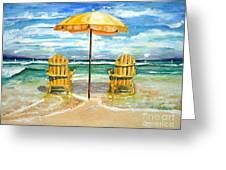Relaxing At The Beach Greeting Card by Chris Dreher