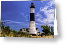 Relaxing By Big Sable Light Greeting Card