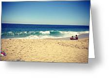 Relaxing Day At The Beach Greeting Card