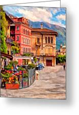 Relaxing In Baveno Greeting Card