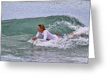 Relaxing In The Surf Greeting Card