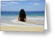 Relaxing In The Waves Greeting Card