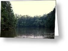 Relaxing Lake Landscape Greeting Card