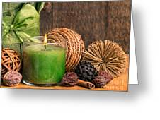 Relaxing Spa Candle Greeting Card