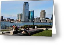Relaxing Weekend On New York Harbor Greeting Card