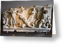 Relief Depicting Gigantomachy Greeting Card