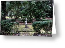 Religion In The Garden Greeting Card
