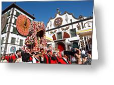 Religious Festival In Azores Greeting Card