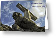 Religious Sculpture And Words Greeting Card