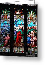 Religious Stained Glass Windows Greeting Card