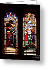 Religious Stained Windows Greeting Card