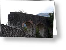 Remains Of An Old Stone Bridge Greeting Card