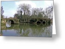 Remains Of Old Bridge Warwick Greeting Card