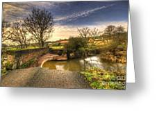Remains Of The Bridge  Greeting Card