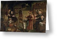 Rembrandt In His Studio Greeting Card