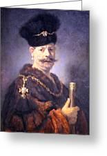 Rembrandt's A Polish Nobleman Greeting Card