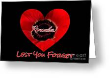 Remember With Love Greeting Card