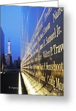 Remembering 9/11-hope And Despair Greeting Card