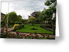 Remembrance Park - In Bakewell Town Peak District - England Greeting Card