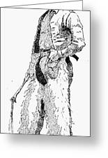 Remington Cowboy, 1887 Greeting Card