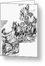 Remington Cowboys, 1887 Greeting Card