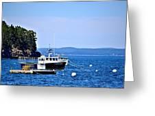 Remington Lobster Boat Greeting Card