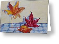 Remnants Of Autumn Greeting Card