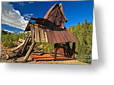 Remnants Of The Colorado Gold Rush Greeting Card