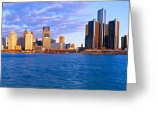 Renaissance Center, Detroit, Sunrise Greeting Card