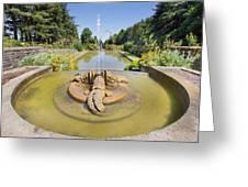 Renaissance Dolphin Sculptures Water Fountain Greeting Card
