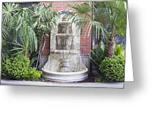 Renaissance Style Water Fountain Greeting Card