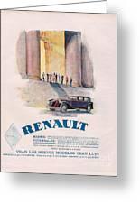 Renault 1930 1930s Usa Cc Cars Greeting Card