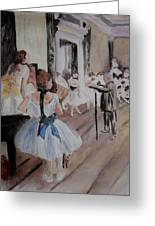Dance Class By Degas Greeting Card