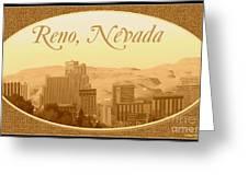 Reno Nevada  Greeting Card