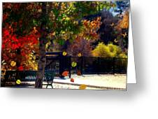 Reno Riverwalk In The Fall Greeting Card