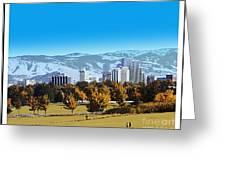Reno Skyline Poster Greeting Card