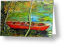 Renoirs Canoe Greeting Card by Charlie Spear
