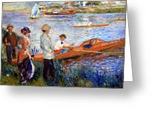 Renoir's Oarsmen At Chatou Greeting Card