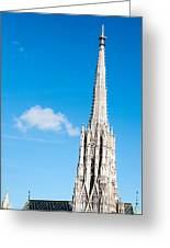 Renovation Of St.stephan Cathedral In Vienna - Austria Greeting Card