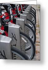 Rental Bikes Greeting Card