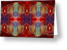 Repeating Realities Abstract Pattern Artwork By Omaste Witkowski Greeting Card