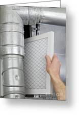 Replace Home Air Filter Greeting Card